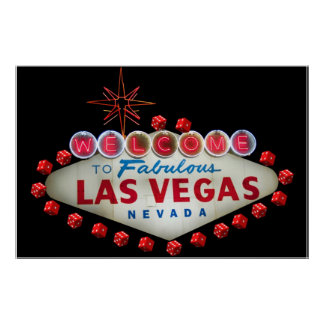 Welcome to Fabulous Las Vegas + Dice Poster