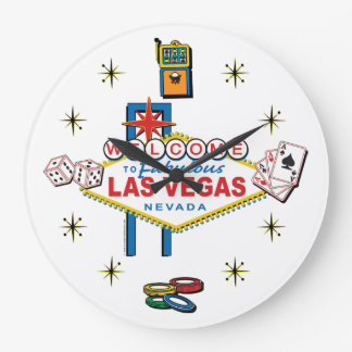 Welcome to Fabulous Las Vegas Large Clock