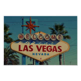 Welcome to Fabulous Las Vegas Nevada canvas Poster