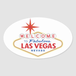 Welcome to Fabulous Las Vegas, Nevada Oval Sticker