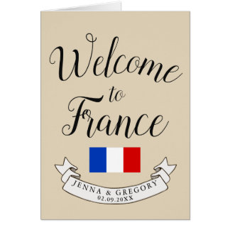 Welcome to France | Destination Wedding Custom Card