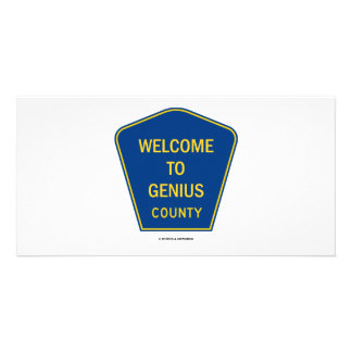 Welcome To Genius County (Signs) Picture Card