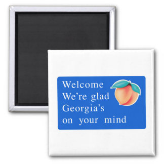 Welcome to Georgia - USA Road Sign Magnet