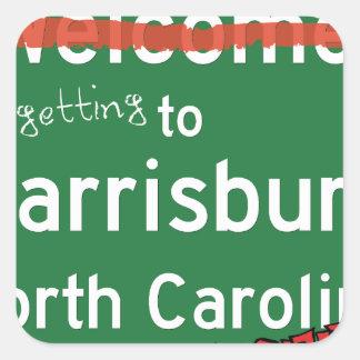 Welcome To Harrisburg North Carolina Square Sticker