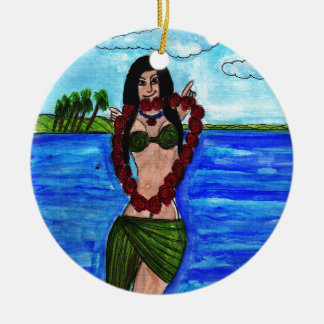 Welcome to Hawaii Ceramic Ornament