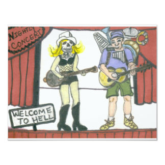 Welcome to Hell 11 Cm X 14 Cm Invitation Card