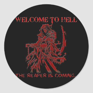 Welcome to Hell Classic Round Sticker
