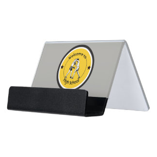 Welcome to High School Desk Business Card Holder