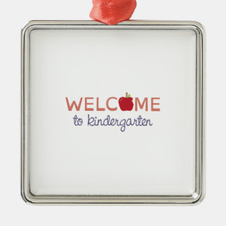 Welcome To Kindergarten Metal Ornament