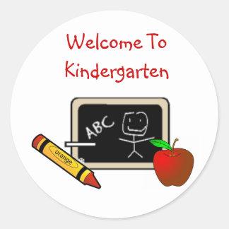 """""""Welcome To Kindergarten Stickers"""""""