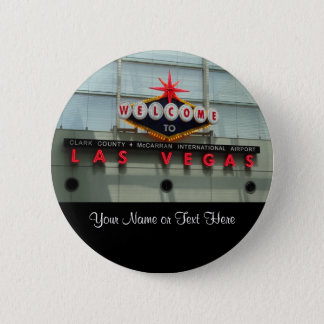 Welcome to Las Vegas Airport Sign Button