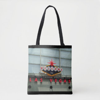 Welcome to Las Vegas Airport Sign Tote Bag