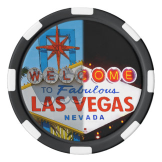 Welcome to Las Vegas - day or night Poker Chips