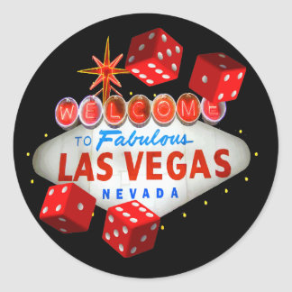 Welcome to Las Vegas + Dice Stickers
