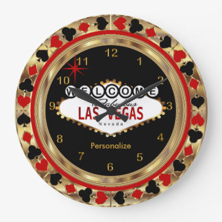 Welcome to Las Vegas! Large Clock