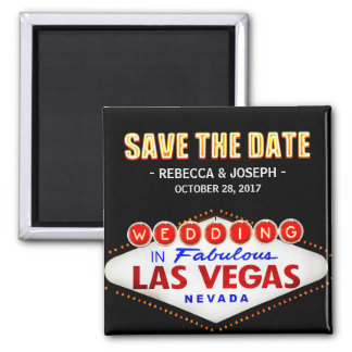 Welcome to Las Vegas Neon Sign - Save the Date Magnet