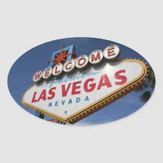 Welcome To Las Vegas Oval Sticker