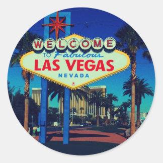 Welcome to Las Vegas! Round Sticker