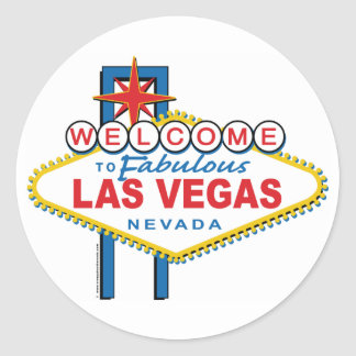 Welcome-to-Las-Vegas Round Sticker
