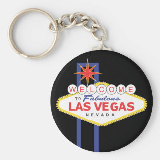 Welcome To Las Vegas Sign Black Key Chain