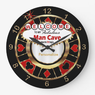 Welcome to Las Vegas Style Man Cave! Large Clock
