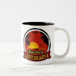 Welcome to Leptokarya Two-Tone Mug