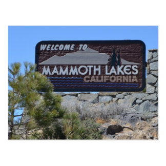 Welcome to Mammoth Lakes Postcard