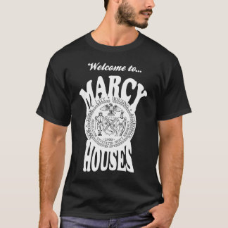 Welcome to Marcy Houses - White Print T-Shirt