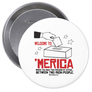 Welcome to Merica - Where you have the freedom 10 Cm Round Badge
