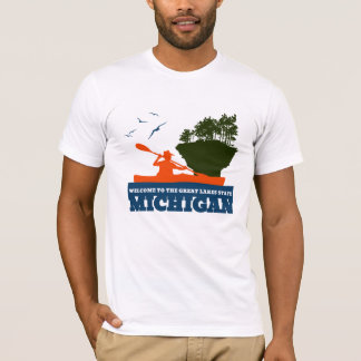 Welcome to Michigan (MI) - Colour Logo. T-Shirt