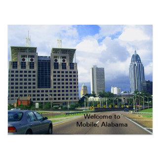 Welcome to Mobile, Alabama Postcard
