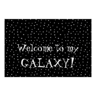 Welcome to my GALAXY Cool Starry Design Poster