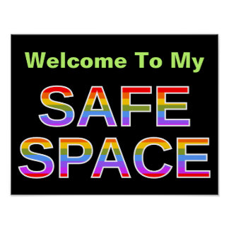 Welcome To My SAFE SPACE Poster