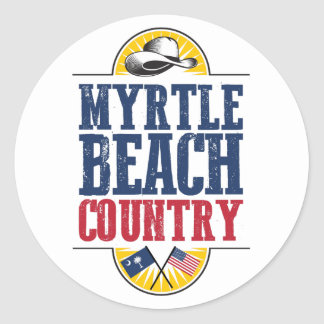 Welcome to Myrtle Beach Country Classic Round Sticker