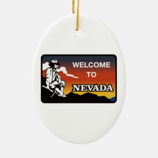 Welcome to Nevada - USA Road Sign Ornaments