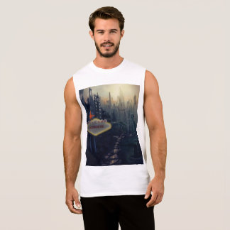 """Welcome To Nowhere"" Men's Graphic Tank"
