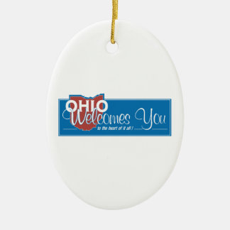 Welcome to Ohio - USA Road Sign Ornament