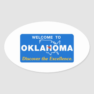 Welcome to Oklahoma - USA Road Sign Sticker