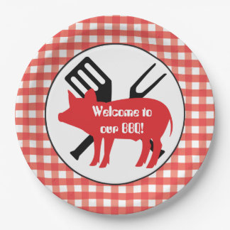 Welcome to our BBQ pig party paper plate 9 Inch Paper Plate
