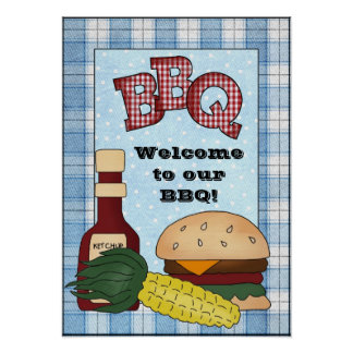 Welcome To Our BBQ poster