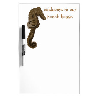 Welcome to Our Beach House SeaHorse Dry Erase Whiteboard