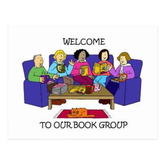 Welcome to our book group. postcard