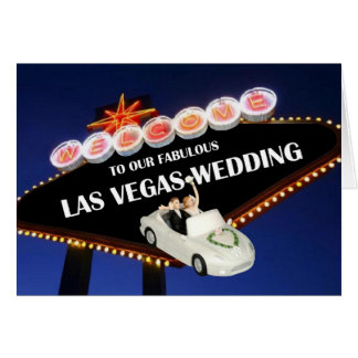 Welcome To Our Fabulous Las Vegas Wedding 'BRIDE & Greeting Card