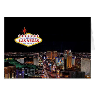 Welcome to Our Fabulous Las Vegas Wedding Invitati Greeting Card