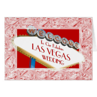 Welcome To Our Fabulous Las Vegas Wedding Ornate F Greeting Card