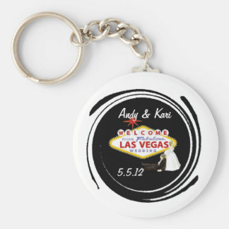 Welcome to Our Fabulous Las Vegas Wedding personal Key Ring