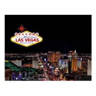 Welcome To Our Fabulous Las Vegas Wedding Postcard