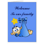 Welcome to our family Birth Card