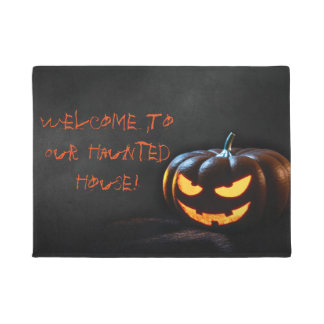 "Welcome To Our Haunted House 18"" x 24"" Door Mat"