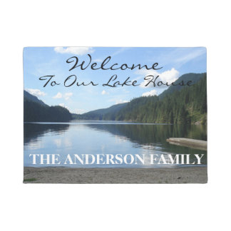 Welcome To Our Lake House Personalised Door Mat